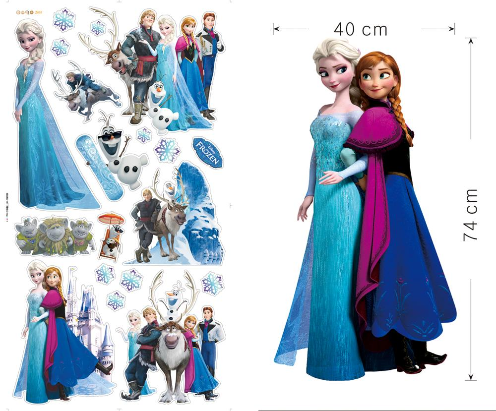 Disney frozen elsa anna wall decal olaf kristoff sven hans - Frozen anna and olaf ...
