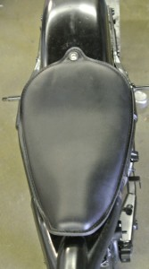 1982-2003 Sportster Black Veg Tanned Leather On The Frame
