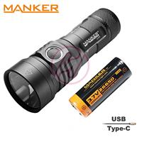 MANKER U23 Cree XHP50.2 LED Rechargeable USB-C Flashlight+26650 5000mAh