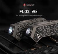 Mecarmy FL02 Ti TC4 Titanium USB Rechargeable Keychain Cree LED Flashlight