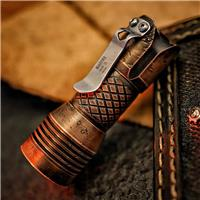 MECARMY PS16 4X CREE XP-G3 S5 2000LM COPPER SCAR FLASHLIGHT+USB RECHARGEABLE BATTERY LIMITED EDITION