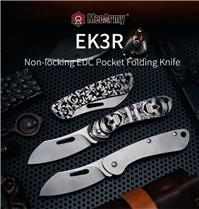 MecArmy EK3R Sandvik 12C27 Steel Blade Non-Locking Pocket Folding Knife