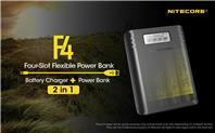 Nitecore F4 Four-Slot Flexible Power Battery Charger