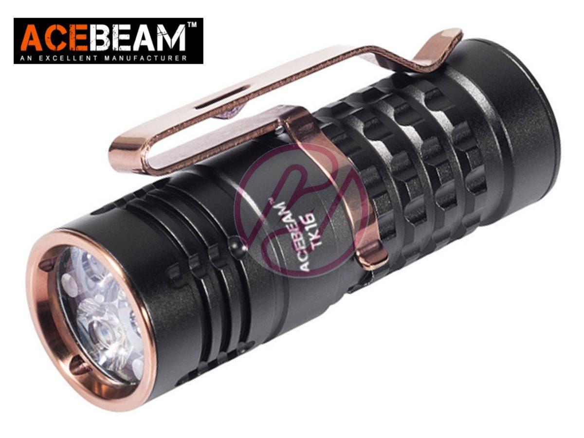 New UltraTac K18 Mini Brass Gold Cree XP-G2 S4 130 Lumens LED Flashlight
