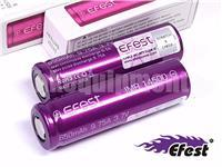 Efest IMR14500 650 Li-Mn 14500 9.75A Flat Top Rechargeable Battery x2 ORIGINAL