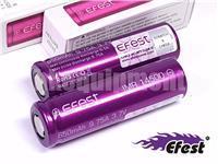 Efest IMR14500 650 Li-Mn 14500 9.75A Flat Top Rechargeable Battery x2 ORIGINAL