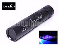 TANK007 Tank 007 TK-566 TK566 1w LED 365nm UV Ultraviolet AA Flashlight