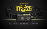 NiteCore NU25 Cree XP-G2 S3 WHITE+CRI+RED USB Rechargeable Headlight Headlamp