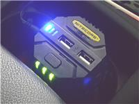 Nitecore V2 12v Car Cup Holder 18650 16340 26650 AA C USB Out Battery Charger