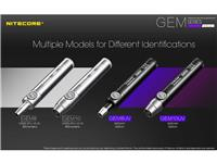 Nitecore GEM Series Gemstone Jeweler UV LED Flashlight w Scale