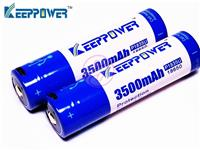 Keeppower P1835U 3500 Micro USB Li-ion Rechargeable Japan 18650 Battery x2