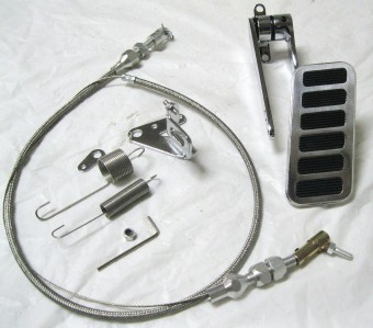 Street Hot Rod Aluminum Universal Gas Pedal 24 Quot Ss
