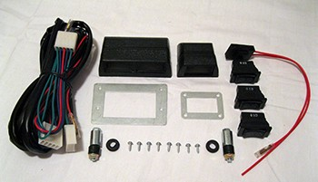 this is a brand new universal switch kit with wiring harness  this top  quality kit is designed for universal power window applications and  includes:
