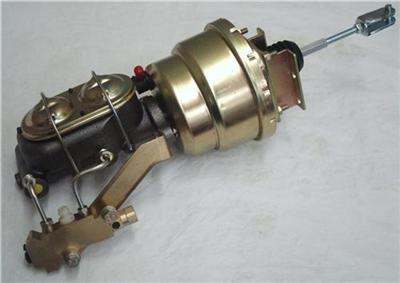 7 dual booster w master cylinder disc drum proportioning valve bracket kit ebay. Black Bedroom Furniture Sets. Home Design Ideas