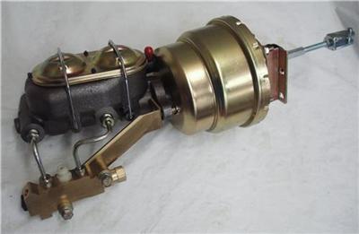 7 dual booster w master cylinder disc disc proportioning valve bracket kit ebay. Black Bedroom Furniture Sets. Home Design Ideas