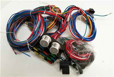 12 circuit wiring harness wire kit street rod hot rod universal rh ebay com Ford Wiring Harness Kits VW Wiring Harness Kits
