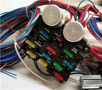 1935 - 1940 ford car pickup truck 12 circuit wiring harness wire kit street  rod   ebay  ebay