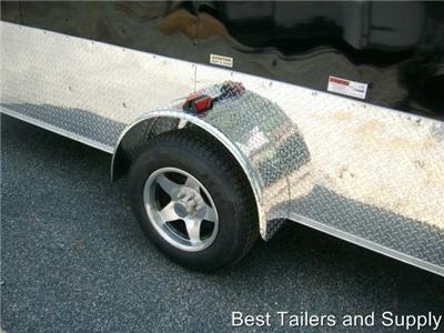 6x12 V Nose Enclosed Cargo Motorcycle Trailer NEW style ATP 3608 and