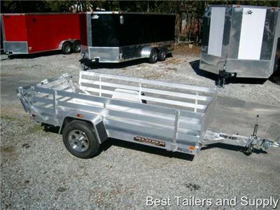 2012 Aluma 6310h Cargo Aluminum Utility Trailer W Rails