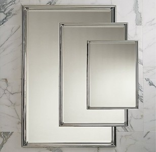 Restoration Hardware Lugarno 24 X 36 Wall Mirror Nickel