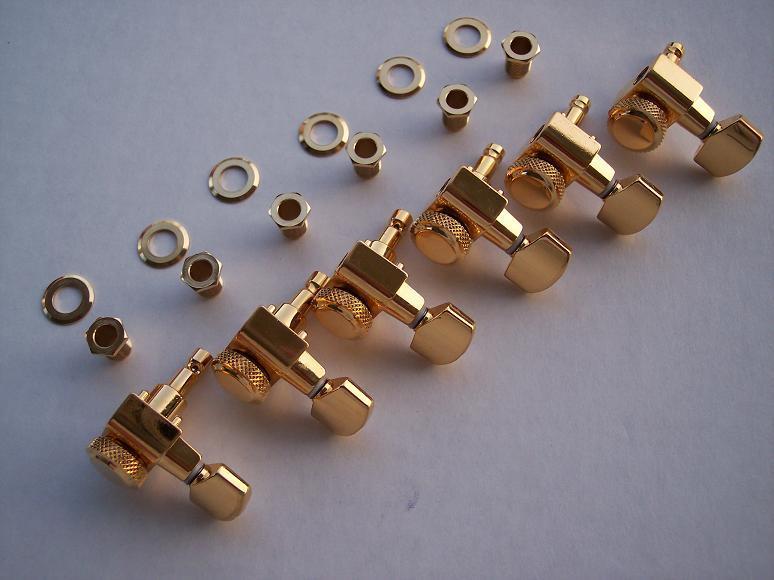 fender schaller gold guitar locking tuners strat tele ebay. Black Bedroom Furniture Sets. Home Design Ideas