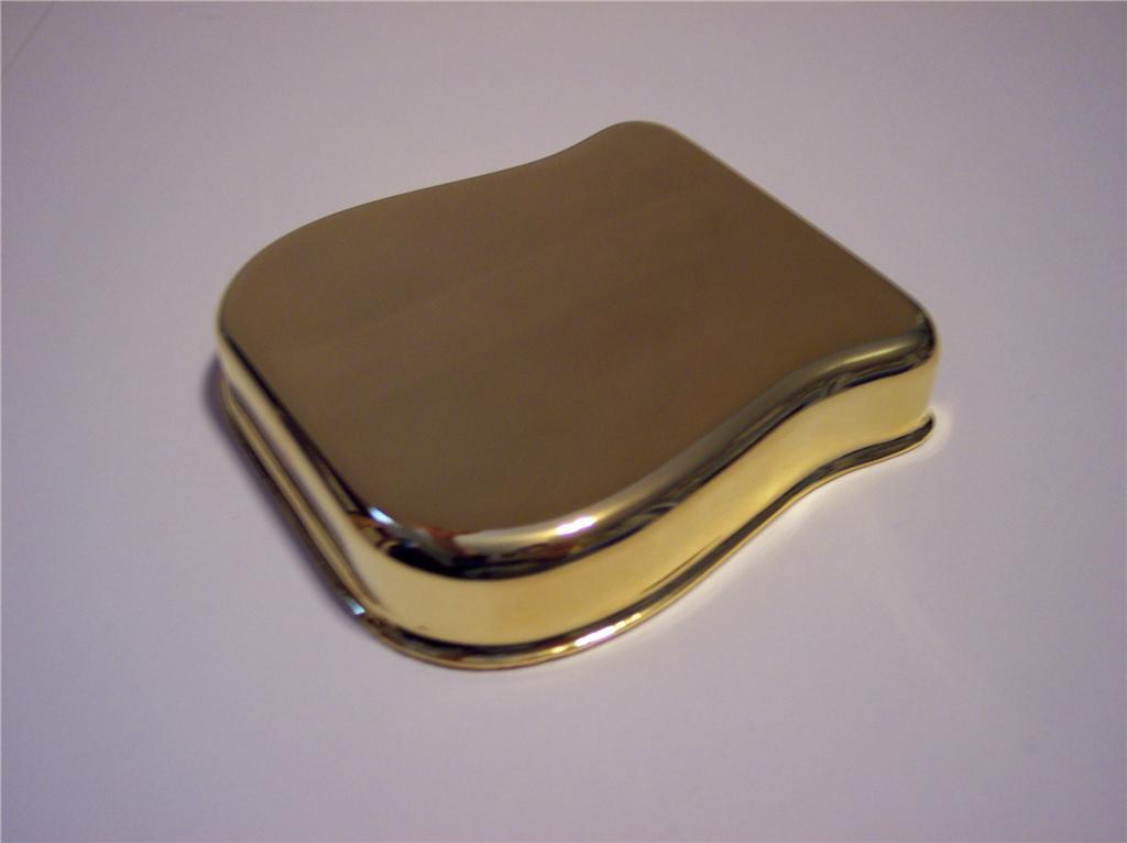 genuine fender telecaster gold guitar bridge cover ashtray 39 52 tele esquire ebay. Black Bedroom Furniture Sets. Home Design Ideas