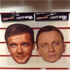 roger moore daniel craig mask arade kost m james bond. Black Bedroom Furniture Sets. Home Design Ideas