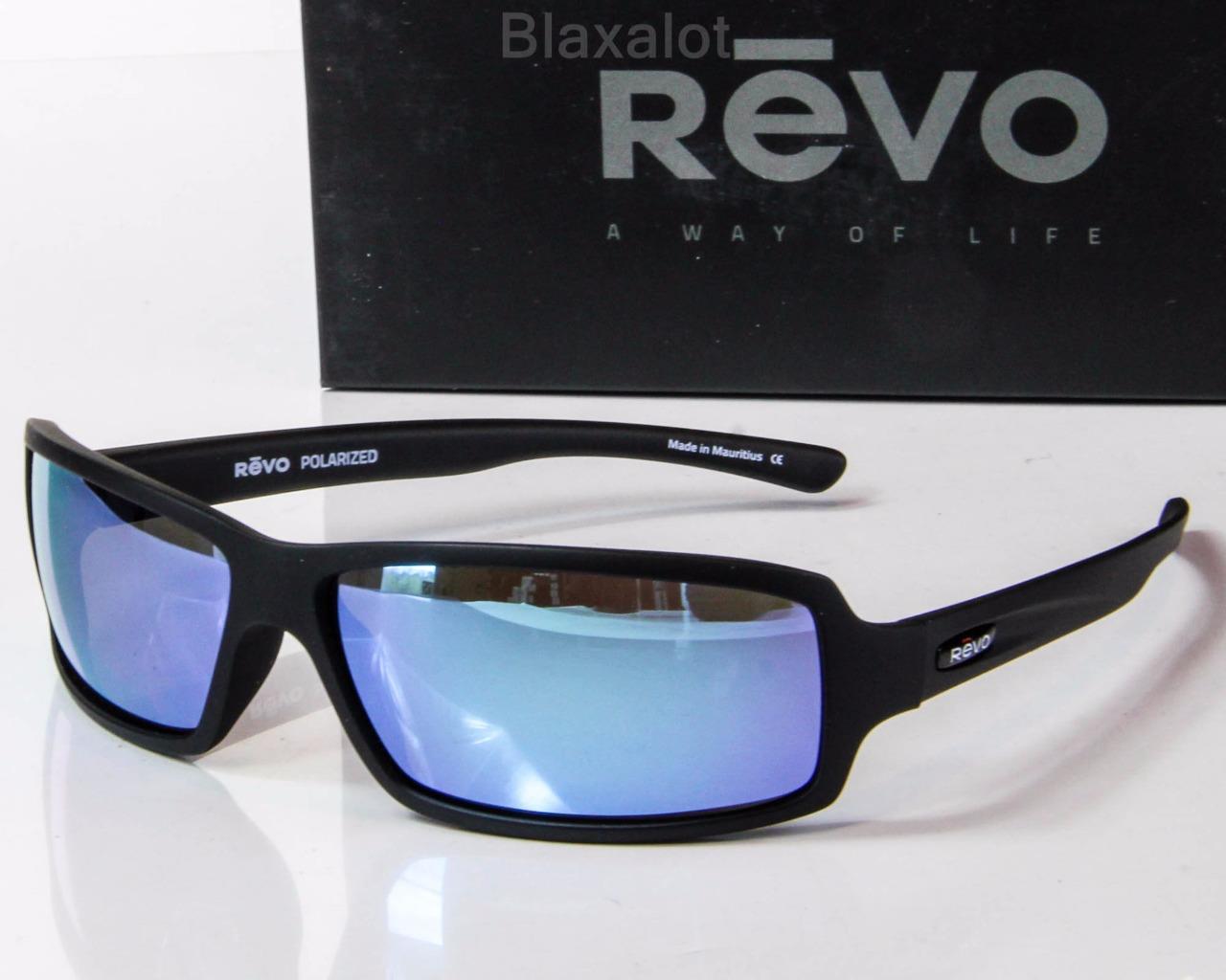 9eeb3b5fe5b NEW REVO THRIVE X POLARIZED SUNGLASSES Matte Black Water Mirror lens ...