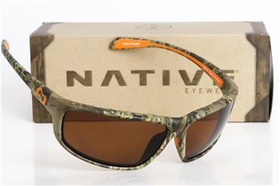 c13406a39e Details about NEW NATIVE EYEWEAR BIGFORK SUNGLASSES True Timber Camo   Polarized  Brown lens
