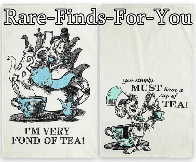 Details about Disney Park Alice in Wonderland and Mad Hatter Kitchen Dish  Towel Set (NEW/TAGS)