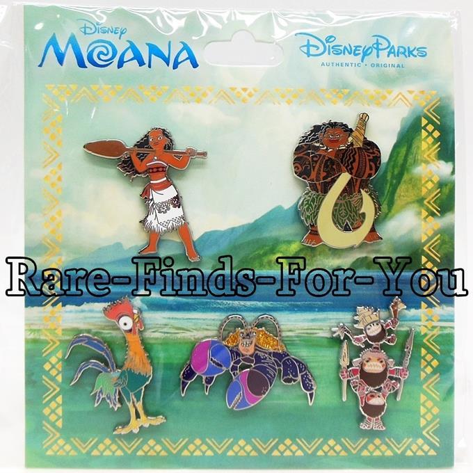 Disney Parks Lanyard Pin Trading Starter Set Moana Maui Pua Hei Hei Kakamora