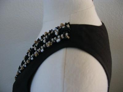 Kate Spade DABNEY EMBELLISHED DRESS SILK BLACK SZ 2 $445 NWT