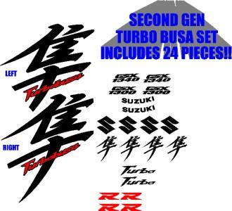 Hayabusa Kanji Graphics Set Gsx1300r 08 11 Turbobusa