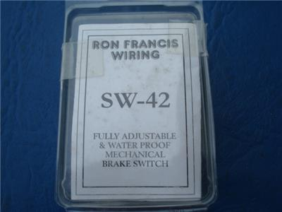 Excellent Ron Francis Sw 42 Fully Adjustable Waterproof Mechanical Brake Wiring Digital Resources Remcakbiperorg