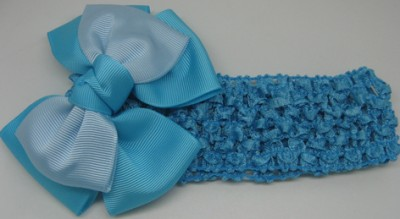 New Girl Baby strip Hair Bow headband with Clip flower hairpin