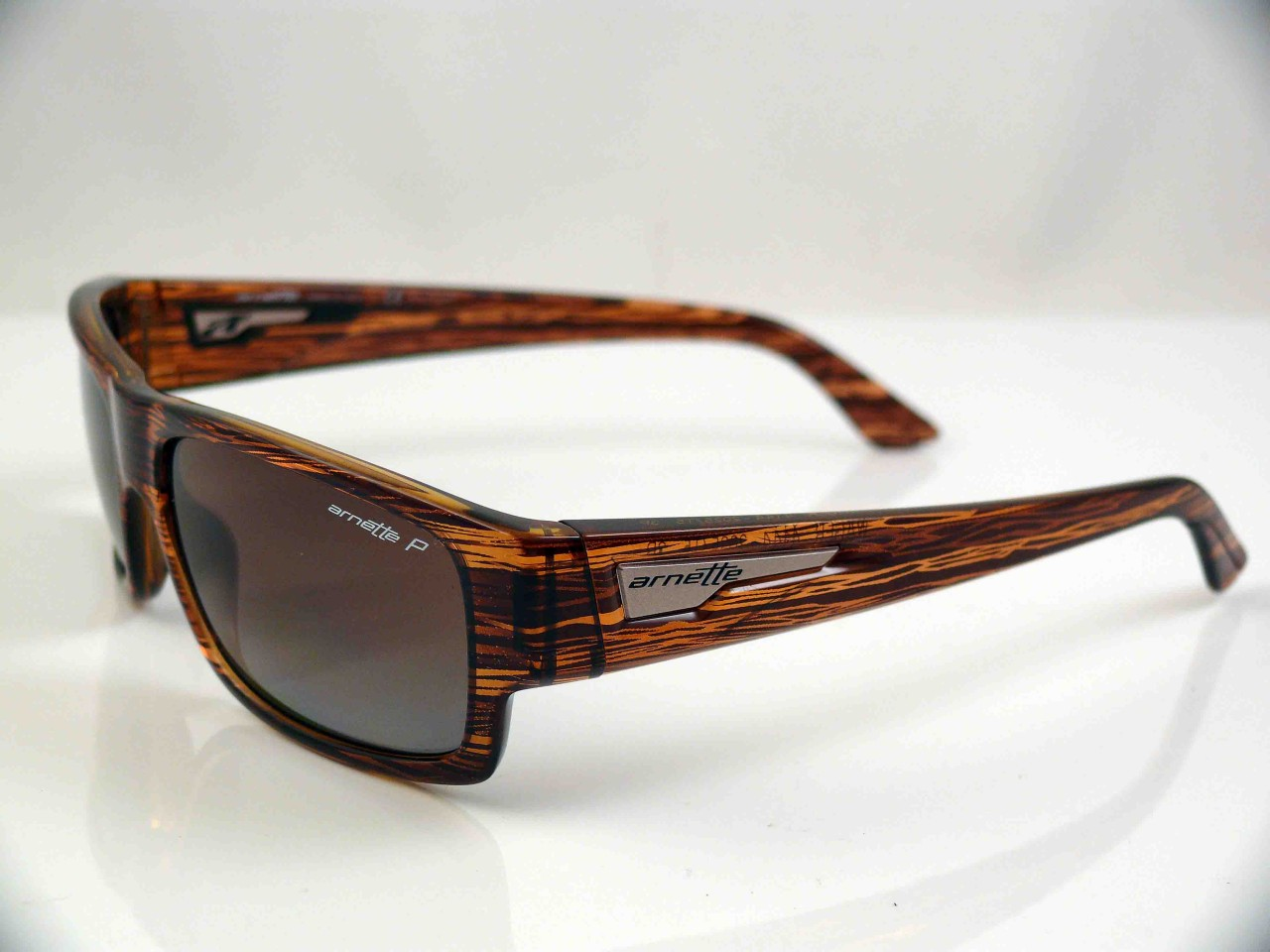 8c7f8d2194 ARNETTE POLARIZED WAGER SUNGLASSES HAVANA BROWN GRD NEW on PopScreen