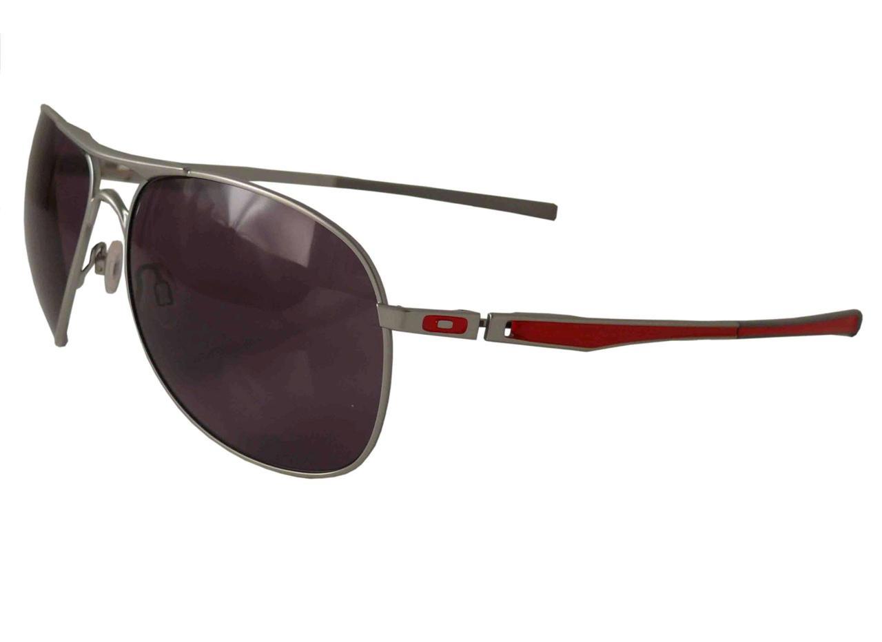 oakley ducati plaintiff aviator sunglasses silver frame grey