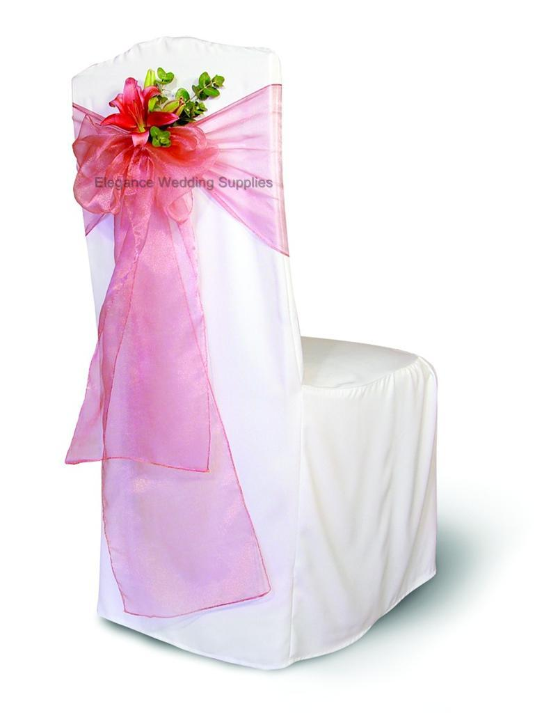 Dusty Rose Organza Chair Sashes Or Table Runners Pack Of