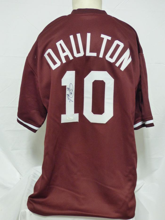 competitive price 22c68 3b55a Details about DARREN DAULTON PHILLIES SIGNED AUTOGRAPHED CUSTOM MAROON  JERSEY JSA