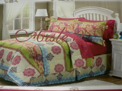 Hot pink lime green bedding for girls