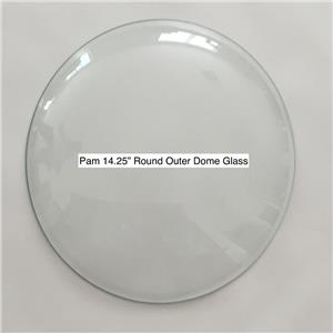 """Pam Clock 14.25/"""" Round Replacement Clear Glass Lens Dome"""
