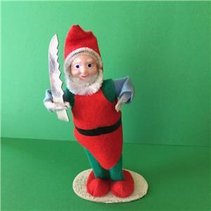 Vintage Style Elf  Christmas Elf  Spun Cotton Elf  Retro Style Elf