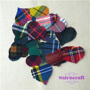 Cut Out Iron Sew On Dog Green Tartan Appliques Wool Fabric Patch