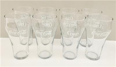 NEW Vtg Coca-Cola Clear Bell Drinking Glass Enjoy Coke Classic Soda Pop 20 Ounce