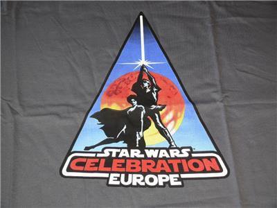 Official Star Wars Celebration Europe 2007 T-Shirt ~ Size XL ~ NEW UNUSED