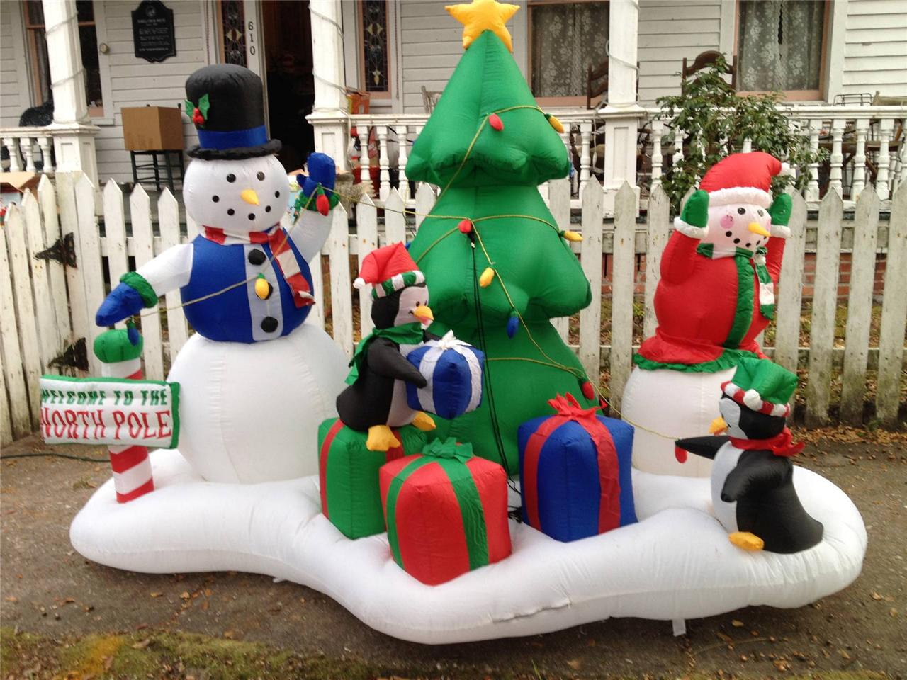 Gemmy Christmas Airblown Inflatable North Pole Scene W