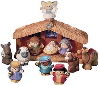 NEW FISHER PRICE LITTLE PEOPLE NATIVITY SET A CHRISTMAS ...