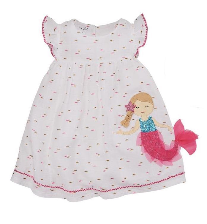 Mud Pie Kids Mermaid Baby Cotton Ribbed Baby 2 Piece Pants Set