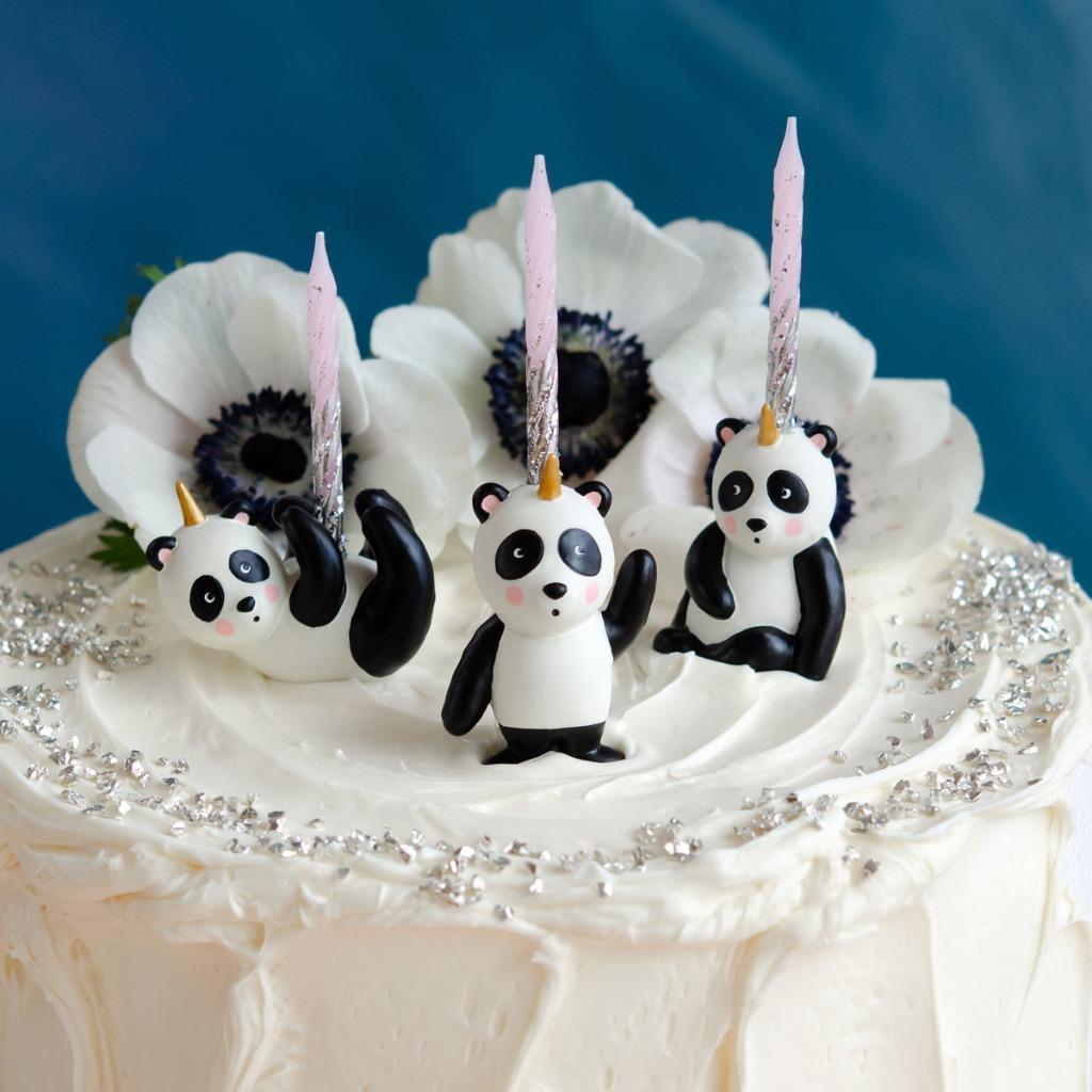 Brilliant Glitterville Unicorn Panda Bears Birthday Cake Cupcakes Topper Set Funny Birthday Cards Online Inifofree Goldxyz