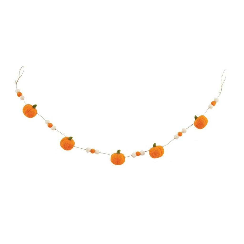Mud Pie Orange Felt Thanksgiving Fall Pumpkin Garland 60 String Ebay